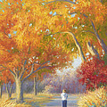 A Walk In The Fall by Lucie Bilodeau