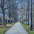A Walk On A Sidewalk Street Alley by Alex Grichenko