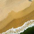 A Walk On The Beach. A Kite Aerial Photograph. by Rob Huntley