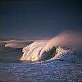 A Wave Breaks At Ziolkouski Beach by Robert L. Potts