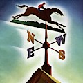 A Weathervane With A Racehorse by Joseph Binder