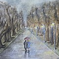 A Wet Evening Stroll by Kelly Mills