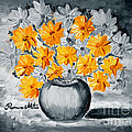 A Whole Bunch Of Daisies Selective Color I by Ramona Matei