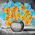 A Whole Bunch Of Daisies Selective Color II by Ramona Matei
