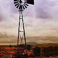 A Windmill And Wagon  by Jeff Swan