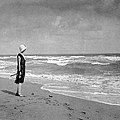 A Winter Day At Miami Beach by Underwood Archives