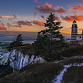 A Winter Dusk At West Quoddy by Marty Saccone