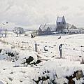 A Winter Landscape Holmstrup by Peder Monsted