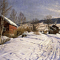 A Winter Landscape Lillehammer by Peder Monsted