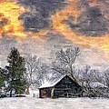 A Winter Sky Paint Version by Steve Harrington
