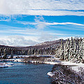 A Winter Wonderland On The Moose River by David Patterson