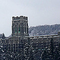 A Wintery View Of The Cadet Chapel At The United States Military Academy by James Connor