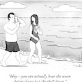 A Woman And Man Walk On A Beach by Charlie Hankin