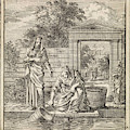 A Woman Fills A Bucket Of Water On A Jetty by Jan Luyken And Wed. Pieter Arentsz And Cornelis Van Der Sys Ii