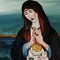 A Woman In Prayer by Joseph Demaree
