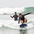 A Woman Learns To Surf by David Zentz