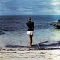 A Woman On A Beach by Serge Balkin