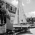 A Woman On Sailboat At Home by Underwood Archives