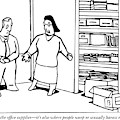A Woman Opens The Door To A Supply Closet by Bruce Eric Kaplan