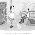 A Woman Shows Her Husband A Shining Lens Flare by Joe Dator