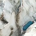 A Woman Sleeping In An Icy Crevasse by Kennan Harvey