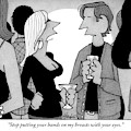 A Woman Speaks To A Man At A Cocktail Party by William Haefeli