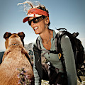 A Woman  Talks To Her Dog While Taking by Whit Richardson