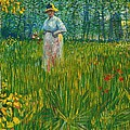 A Woman Walking In A Garden Van Gogh 1887 by Movie Poster Prints