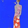 A Woman Wearing A Flapper Dress by Eduardo Garcia Benito