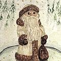 A Woodland Santa by Angela Davies