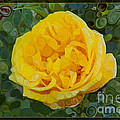 A Yellow Rose Abstract Painting by Omaste Witkowski