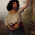 A Young Gypsy Woman With Tambourine  by Mountain Dreams