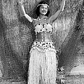 A Young Hawaiian Hula Woman by Underwood Archives