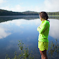 A Young Woman Looks Out Over Unna Lake by Christopher Kimmel