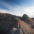 A Young Woman On A Narrow Ridge by Michael Hanson