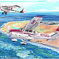 Cessna 206 And A1a Husky by Jack Pumphrey