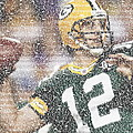 Aaron Rodgers Quotes Mosaic by Paul Van Scott