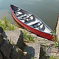 Abandoned Boat At The Quay by Eva-Maria Di Bella