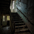 Abandoned Building - Haunting Images - Stairwell In Building 138 by Gary Heller
