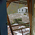 Abandoned Cabin Elkmont Smoky Mountains - Screened Door Old House by Rebecca Korpita