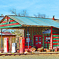 Abandoned Gas Station by Cathy Anderson