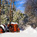 Abandoned Winter Tractor by Brenda Giasson