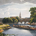 Abingdon Bridge And Church, Engraved by William Havell