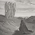 Abraham And The Three Angels by Gustave Dore