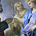 Abraham And The Three Angels by Luca Giordano