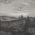 Abraham Journeying Into The Land Of Canaan by Gustave Dore