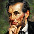 Abraham Lincoln - Abstract Realism by Georgiana Romanovna