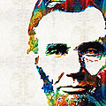 Abraham Lincoln Art - Colorful Abe - By Sharon Cummings by Sharon Cummings