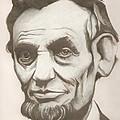 Abraham Lincoln Drawing by Robert Crandall