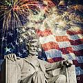 Abraham Lincoln Fireworks by Michael Shake